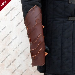 Larp Leather Gauntlets
