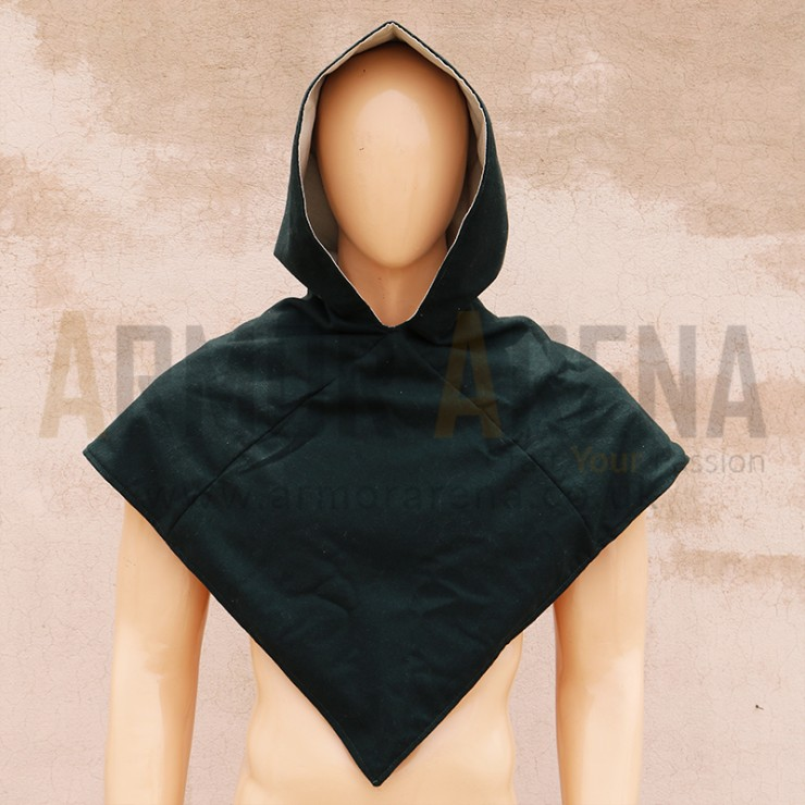 Wool Hood with Linen Lining