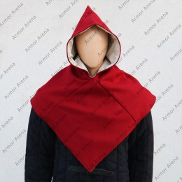 Viking Wool Hood with Linen Lining