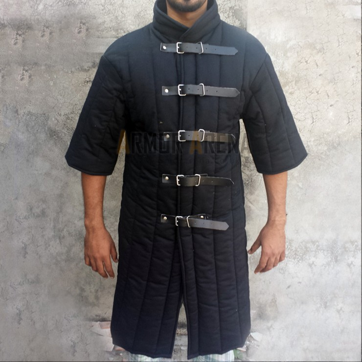 Shorts Sleeves Gambeson with Straight Bottom