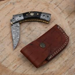 Folding Damascus Knife