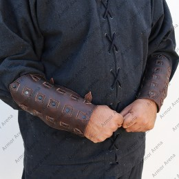 Giotto Leather Bracers
