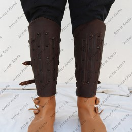 Combat Leather Greaves
