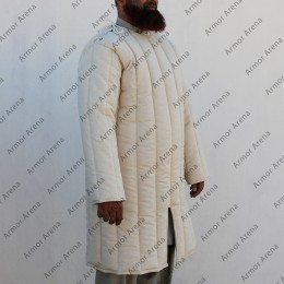 Front Closed Long Sleeves Gambeson with Straight Bottom and Neck Closing with Laces