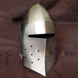 Medieval Helmet with Hinged Visor